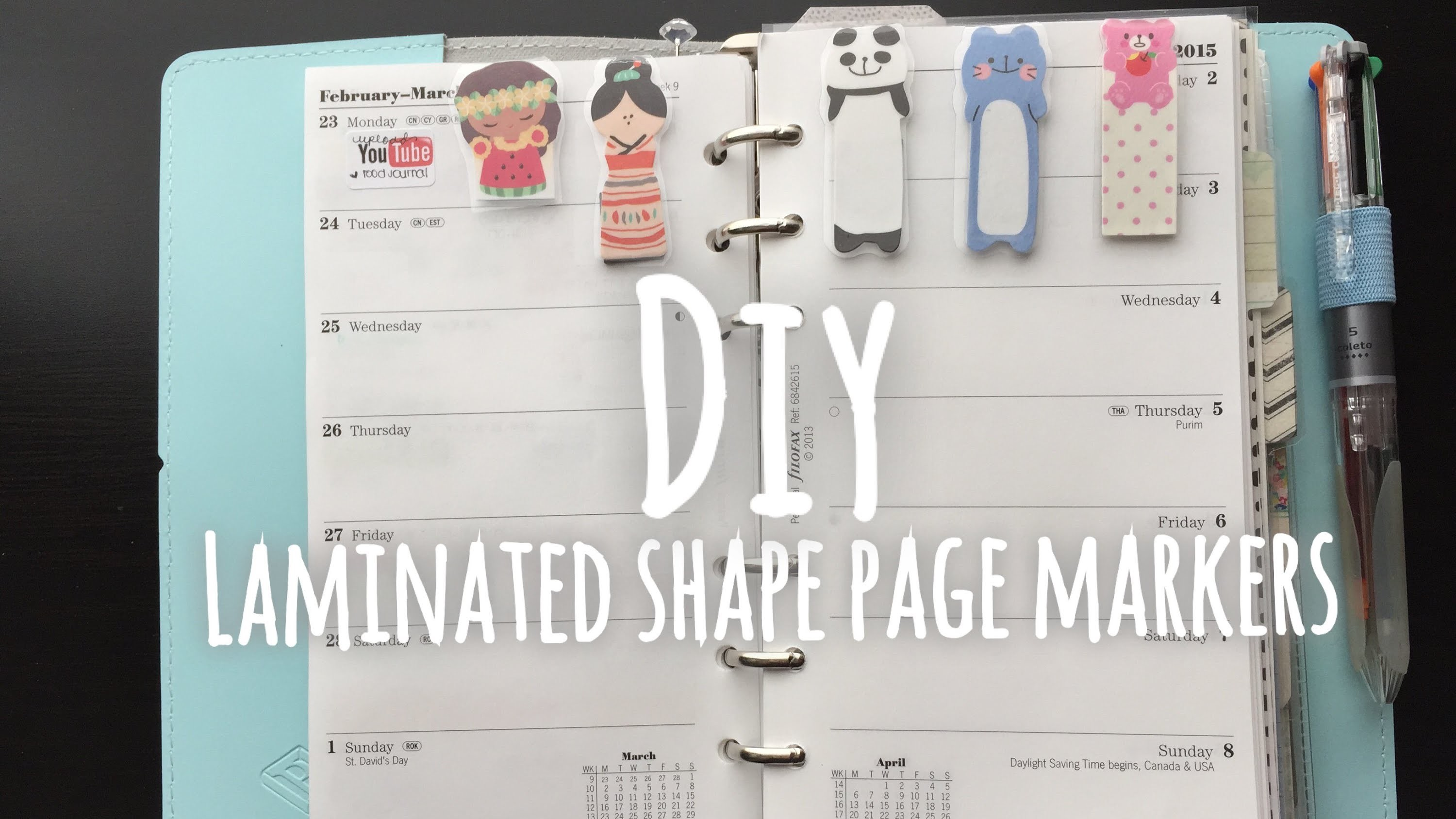 DIY LAMINATED SHAPE PAGE MARKER (For planners & books)