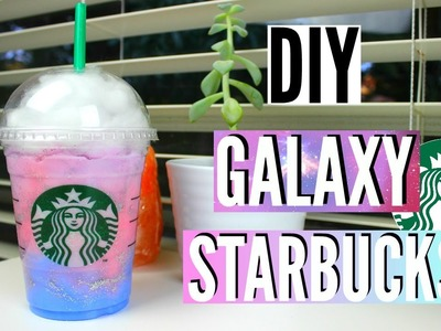 DIY Room Decor: Galaxy in a Starbucks Cup!
