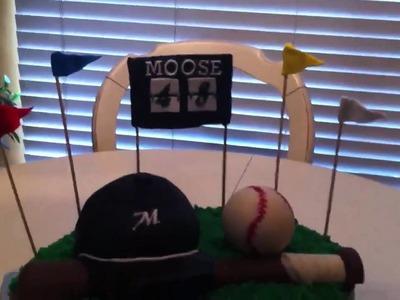 Fondant Baseball Theme Cake
