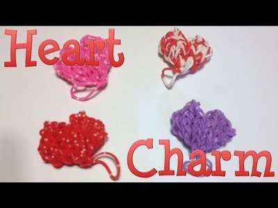 Heart Loom Band Charm - made without the Rainbow Loom