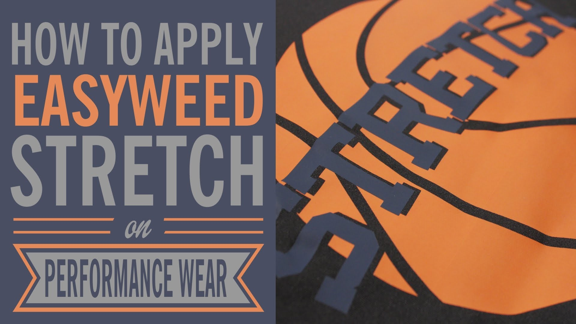 How to Apply Siser EasyWeed Stretch on Performance Wear
