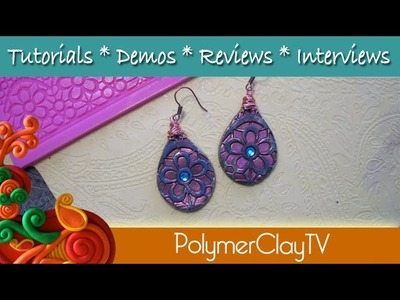 How to make distressed earrings using polymer clay and molds