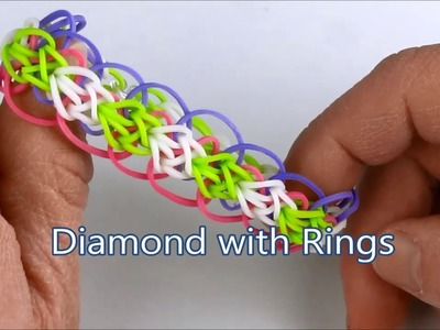 How to make the Diamond with Rings bracelet on the Rainbow Loom