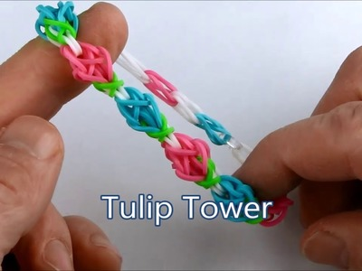 How to make the Tulip Tower bracelet on the Rainbow Loom