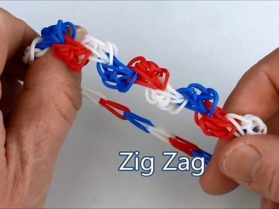 How to make the Zig Zag bracelet on the Rainbow Loom