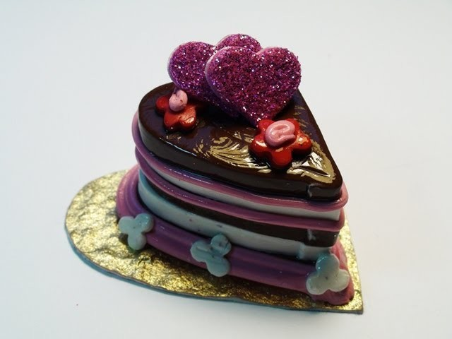 Making a Miniature Valentine's Cake With Polymer Clay