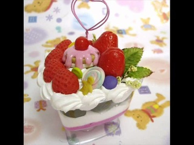 Polymer Clay Fake Sweet Deco Ice Cream - Cake For Photo Desktop