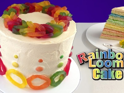 Rainbow Loom Band Cake HOW TO COOK THAT Ann Reardon