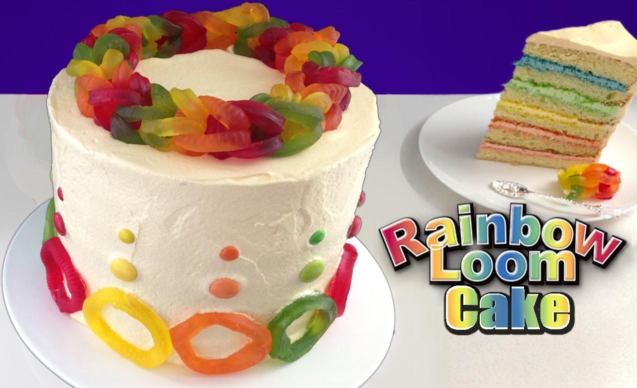 Rainbow Loom Band Cake HOW TO COOK THAT Ann Reardon