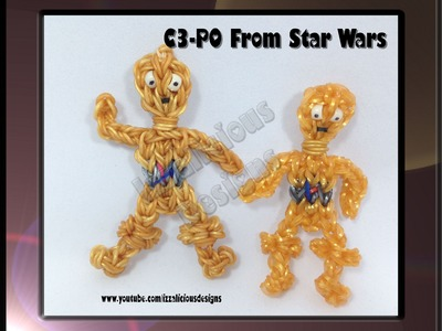 Rainbow Loom C-3PO (C3PO) from Star Wars Action Figure.Charm - Gomitas