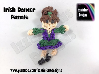 Rainbow Loom - Irish Dancer (F) Action Figure.Doll.Charm - St Patricks Day
