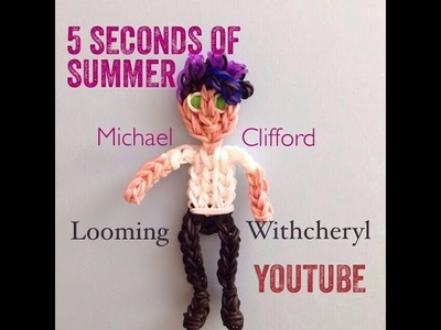 Rainbow Loom Michael Clifford - 5SOS - 5 SECONDS OF SUMMER - Looming WithCheryl