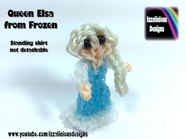 Rainbow Loom Queen Elsa Charm.Princess Action Figure - 2D Standing Doll