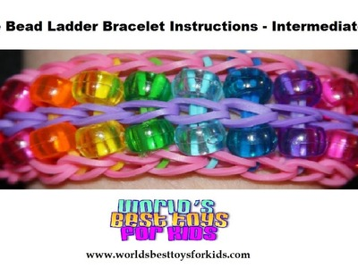 Rainbow Loom Rubber Band Refill- Double Bead Ladder Bracelet  Instructions