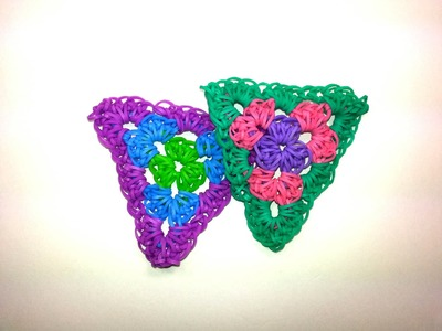 Single Granny Triangle Tutorial by feelinspiffy (HOOK ONLY) (Rainbow Loom)