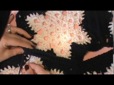 """""""Snowflake Afghan""""- The Joining Process"""