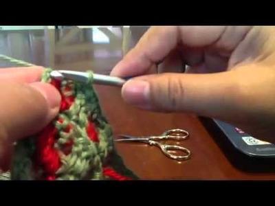 Strawberry stitch in regular crochet-3