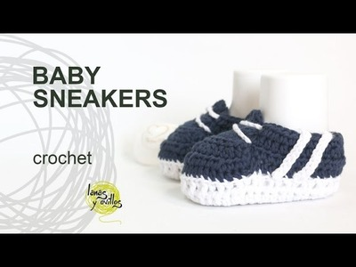 Tutorial Baby Sneakers Crochet in English