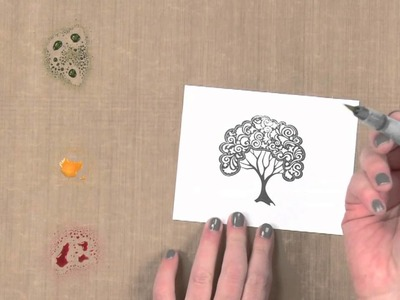 All About Stamping - Using Spray Mists with Stamps: Color with Spray Mist Puddles