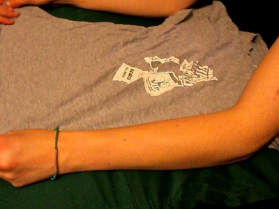 Birthday Party Part 4: How to make a tee-shirt shrug