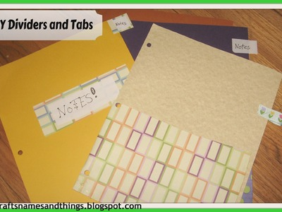 DIY how to make Binder Dividers with Pockets and Tabs.DIY School Supplies-  part 1