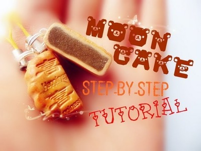 【Polymer Clay Tutorial】♠ Mooncake Charm ♠