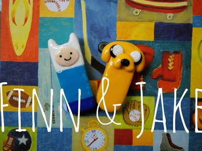 FINN & JAKE Polymer Clay Pins- Adventure Time