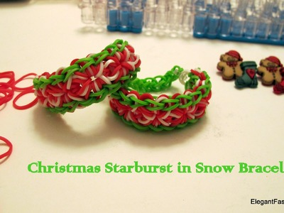 HD-How to make Starburst in snow bracelet on Rainbow Loom