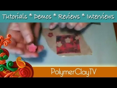 How to Create Tiny Polymer clay flowers for jewelry and mixed media art