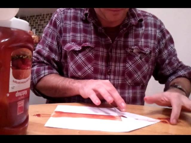 How to make a paper airplane with KETCHUP