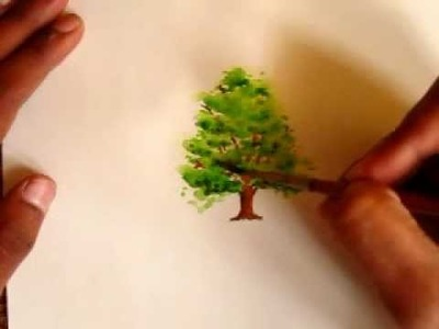How to paint a tree like a Pro