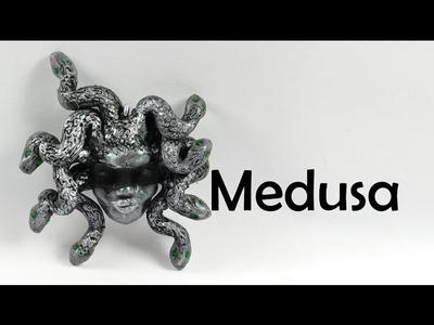 Medusa - mythical creature - polymer clay TUTORIAL