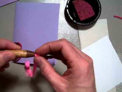 Paper Quilling heart card.MOV