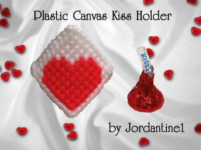 Plastic Canvas Chocolate Hershey Kiss Holder - Love Heart Craft Valentine's Day Gift