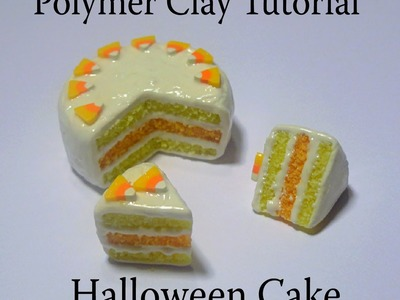 Polymer Clay Halloween Cake & Candy Corn Cane Tutorial