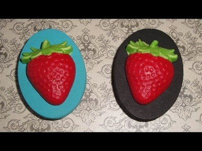 Polymer Clay Strawberry Refrigerator Magnets