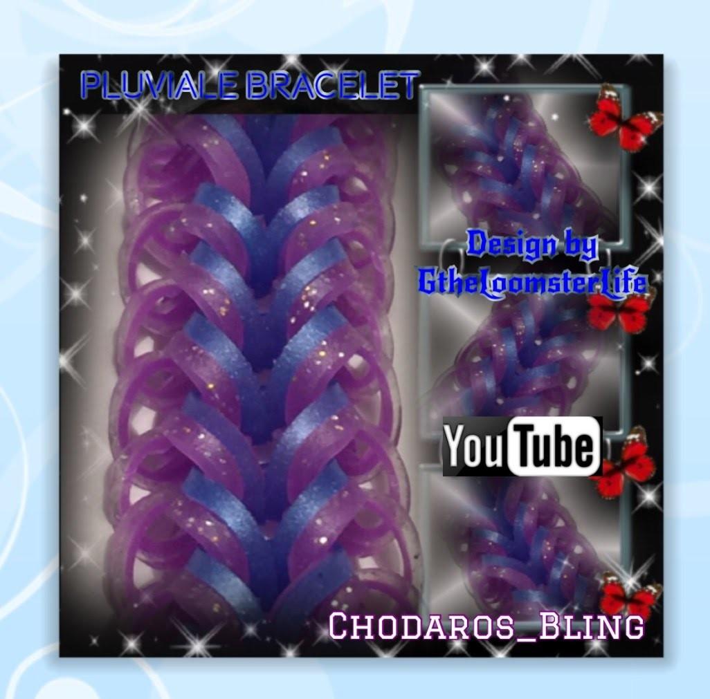 Rainbow Loom Band Pluviale Bracelet Tutorial.How to