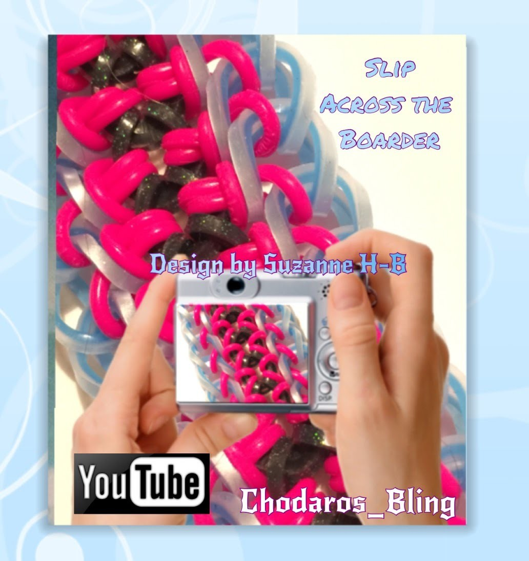 Rainbow Loom Band Slip across the Boarder Bracelet Tutorial. How to