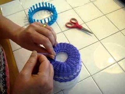 Removing your project from the loom and finishing your hat - MOV01318