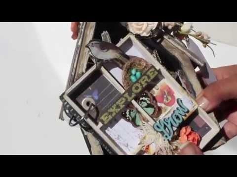 Scrapbooking Altered Bird House *Mini Album* LWP Prima