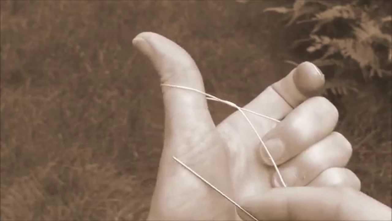 Tatting - Speed Tatting Double Stitch (ds) in Needle Tatting by RustiKate