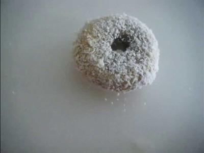 Coconut donut (Fast Polymer Clay Tutorial)