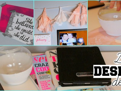 DIY Pinterest Inspired Desk Decor & Organization Tips | Kenzie Elizabeth