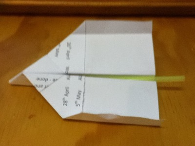 How to Make a Blow Pipe Paper Plane - Launched by Blowing into a Straw