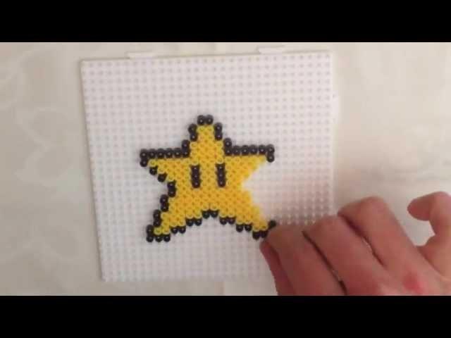 How to Make a Super Mario Bros. Star Perler Bead Sprite