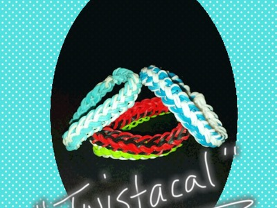"My NEW ""Twistacal"" Rainbow Loom Bracelet.How To Tutorial"