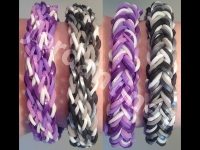 Quick Change Bracelet Variation - Reversible - Rainbow Loom