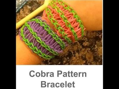 Rainbow Loom - Cobra pattern bracelet tutorial