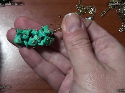 Sarubbest - Tutorial Orecchini fai da te: orecchini a grappolo con chips di turchese