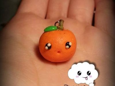 Tutorial Arancia Kawaii - Orange (Fimo.Cernit.Premo.Polymer Clay)